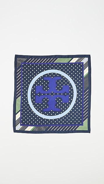 Tory Burch Шейный платок Broken с рисунком в горошек и логотипом