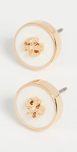 Tory Burch - Kira Enamel Circle Stud Earrings