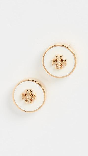 Tory Burch Kira Enamel Circle Stud Earrings