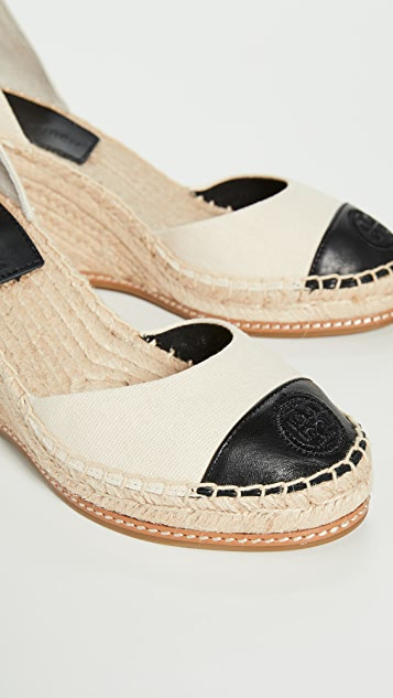 Tory Burch 85mm Colorblock Wedge Espadrilles