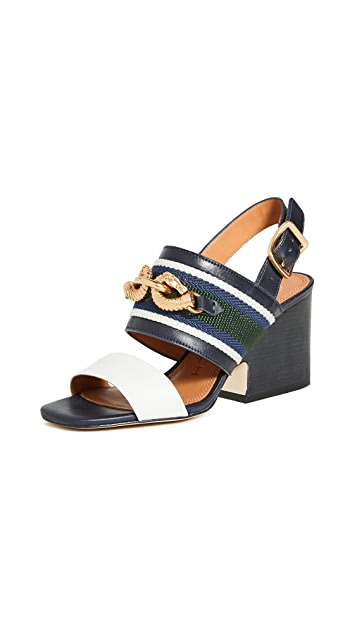 Tory Burch 75mm Jessa Block Heel Sandals