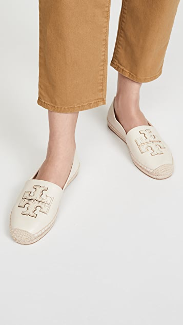 Tory Burch Ines 编织底坡跟绑带凉鞋