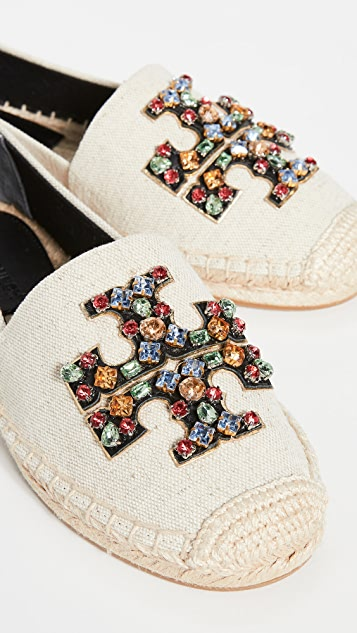 Tory Burch Ines Embellished Espadrilles