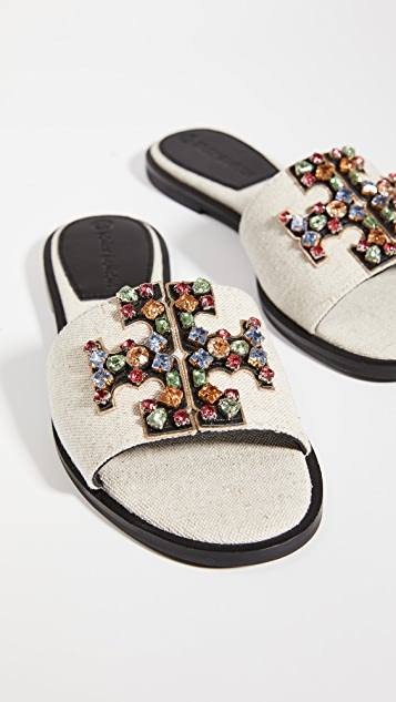 Tory Burch Ines Embellished Slides