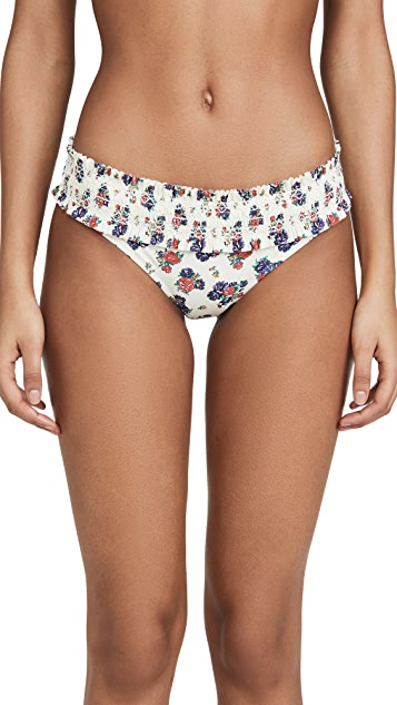 Tory Burch Costa Printed Hipster Bottoms