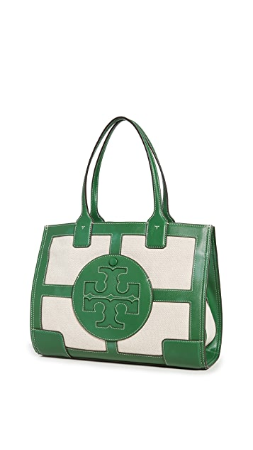 Tory Burch Elle Canvas Quadrant 迷你托特包