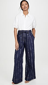 Gemini Jacquard Denim Trousers
