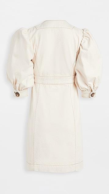 Tory Burch Cotton Puffed Sleeve Dress