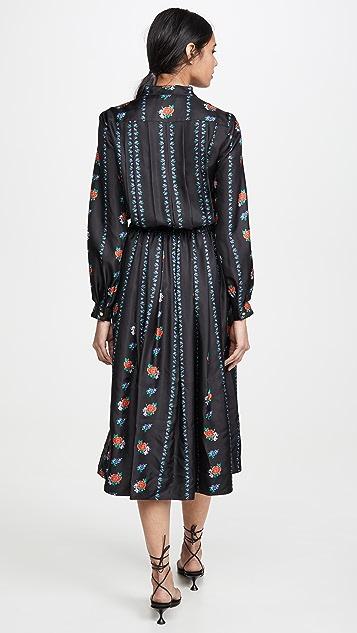 Tory Burch Платье с длинными рукавами и принтом