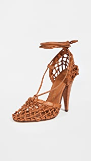 Tory Burch 110mm Lace Up Sandals