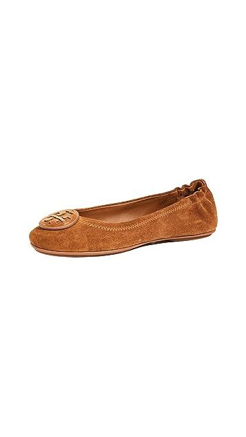 Tory Burch Suede Minnie 旅行芭蕾平底鞋
