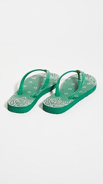 Tory Burch 纤细夹趾凉鞋
