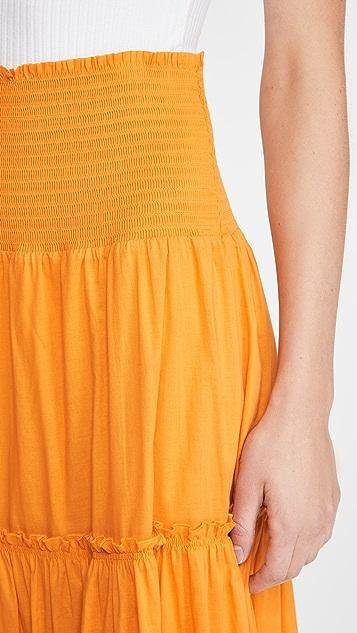 Tory Burch Smocked Skirt