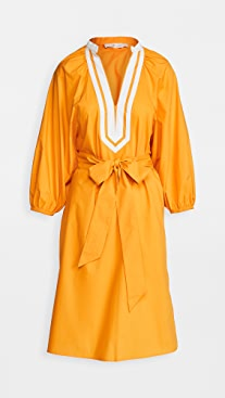 Tory Burch Puffed Sleeve Tunic Dress