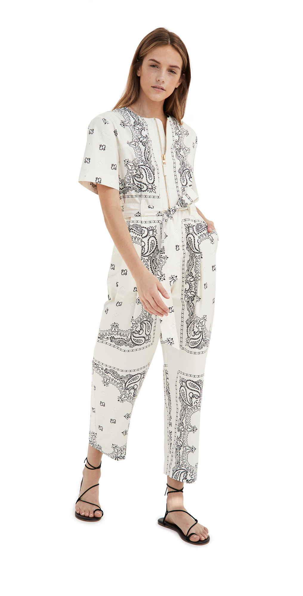 Tory Burch Printed Poplin Jumpsuit