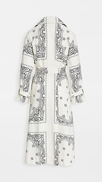 Tory Burch Printed Trench Coat
