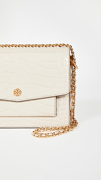 Tory Burch Robinson Embossed Double Strap Convertible Bag