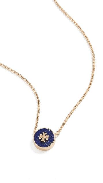 Tory Burch Kira Lapis Pendant Necklace