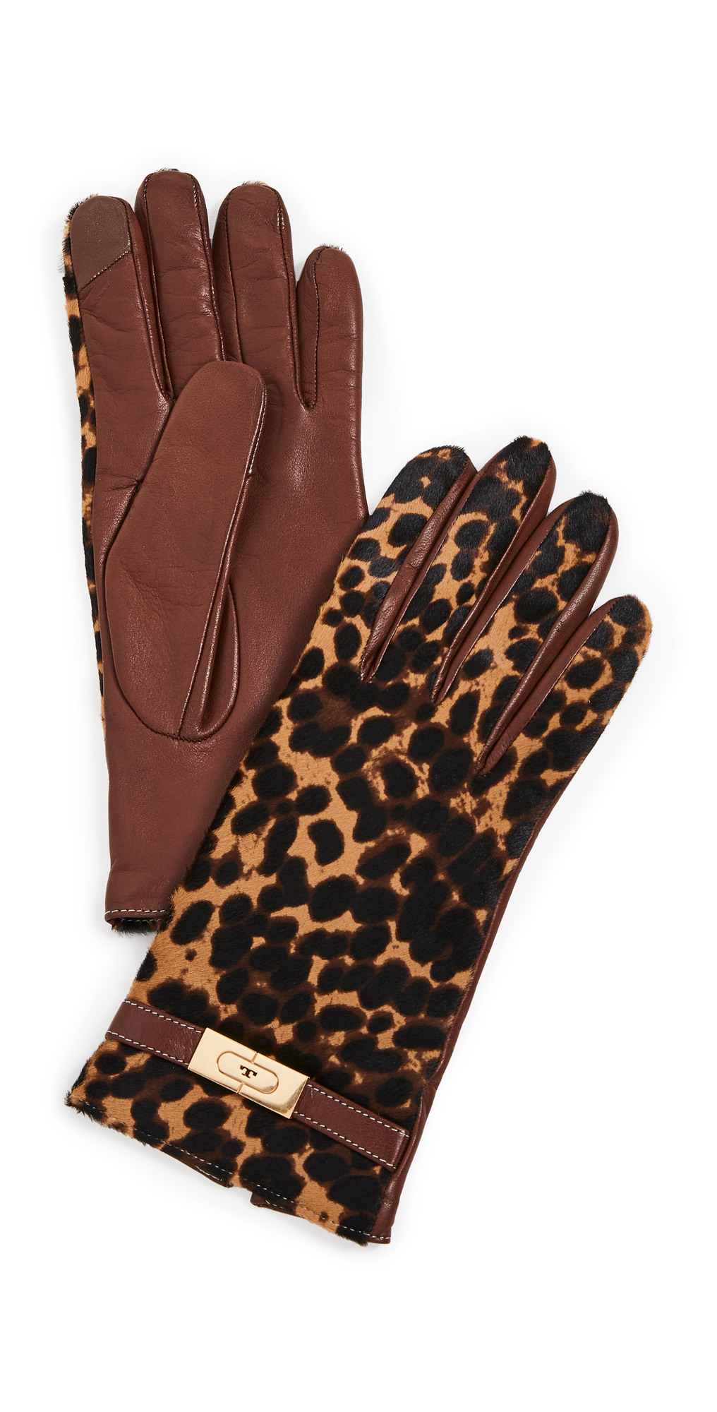 Tory Burch Leopard Lee Lock Gloves