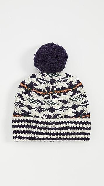Tory Burch 费尔岛风印花提花织物帽子