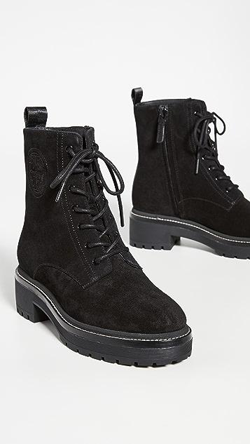 Tory Burch Miller 50mm 沟纹鞋底短靴
