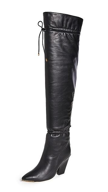 Tory Burch Lila 90mm OTK Scrunch Boots