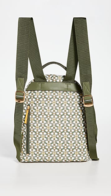 Tory Burch Piper Printed Small Zip Backpack