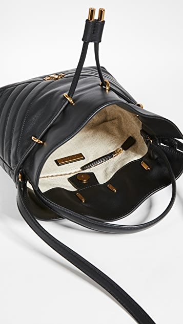 Tory Burch Kira Chevron Mini Bucket Bag