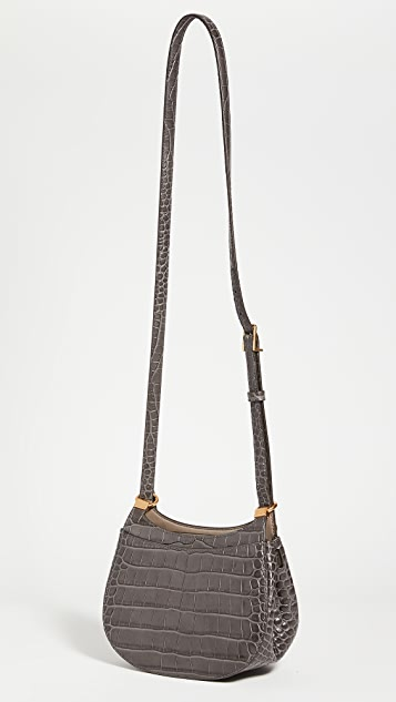 Tory Burch Lee Radziwill Embossed Frame Saddle Bag