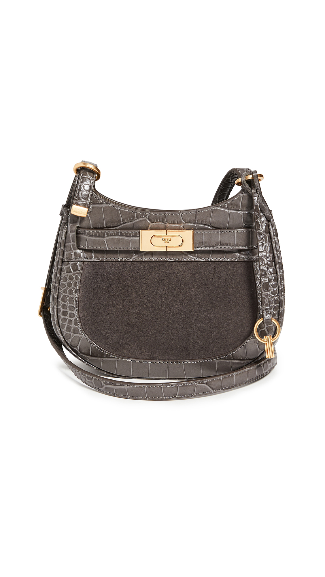 Tory Burch Lee Radziwill Embossed Frame Saddle Bag