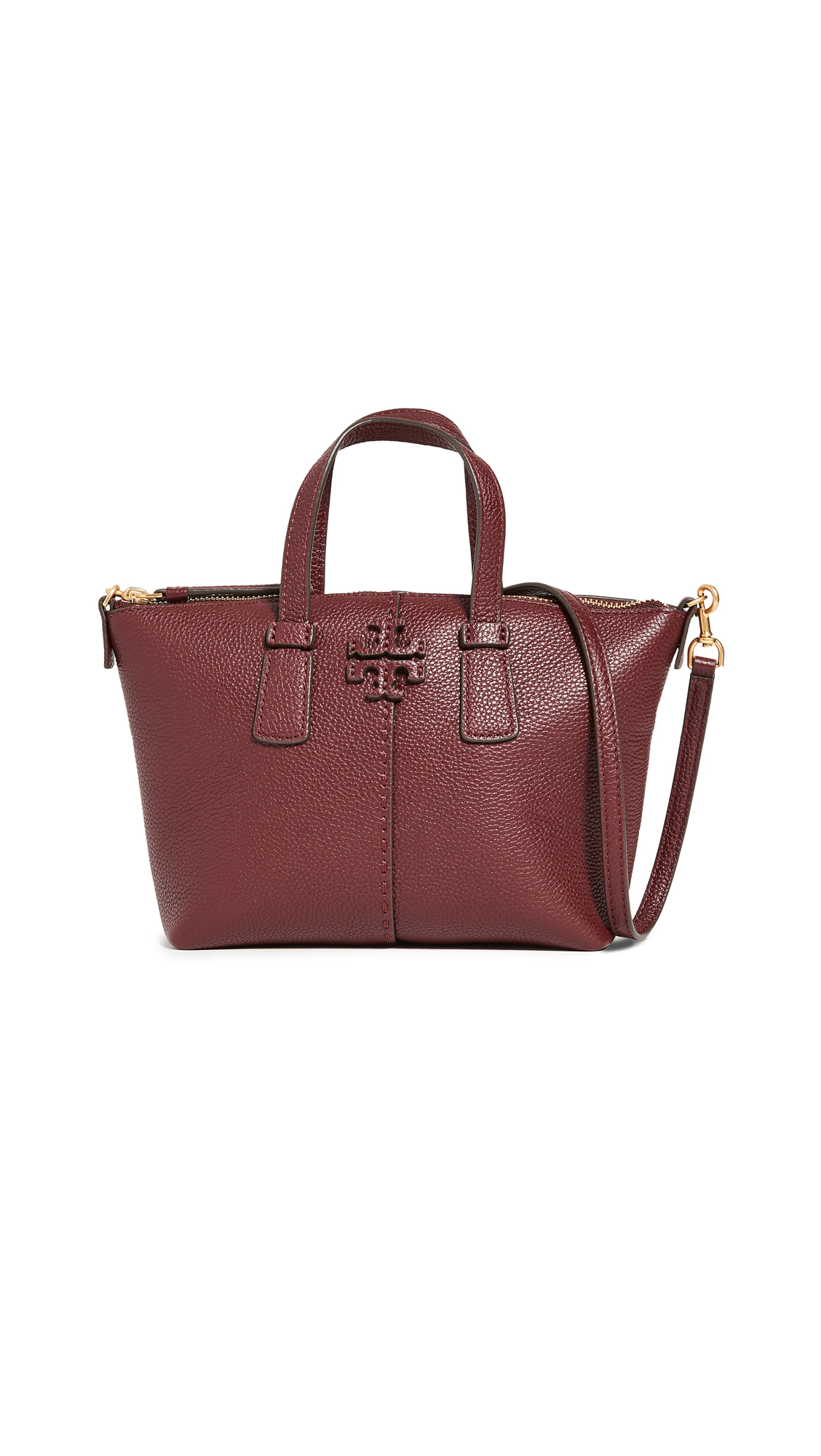 Tory Burch McGraw Mini Top Zip Satchel