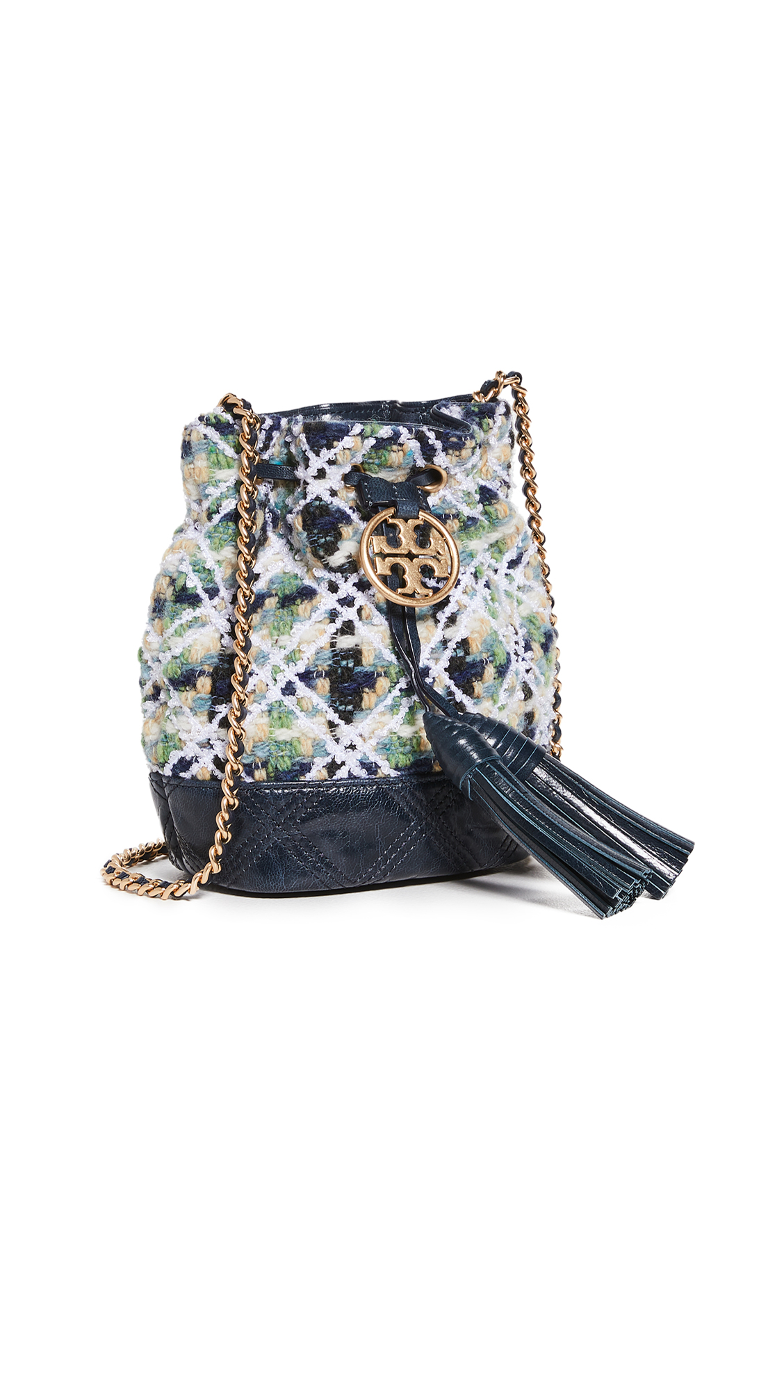 Tory Burch Fleming Soft Tweed Mini Bucket Bag