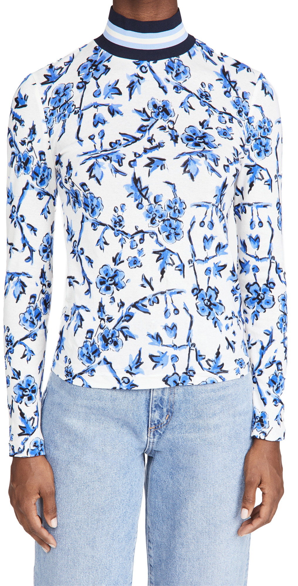 Tory Burch Printed Turtleneck