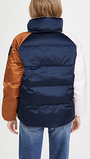 Tory Burch Reversible Colorblock Puffer Jacket