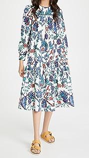 Tory Burch Printed Crew Neck Dress