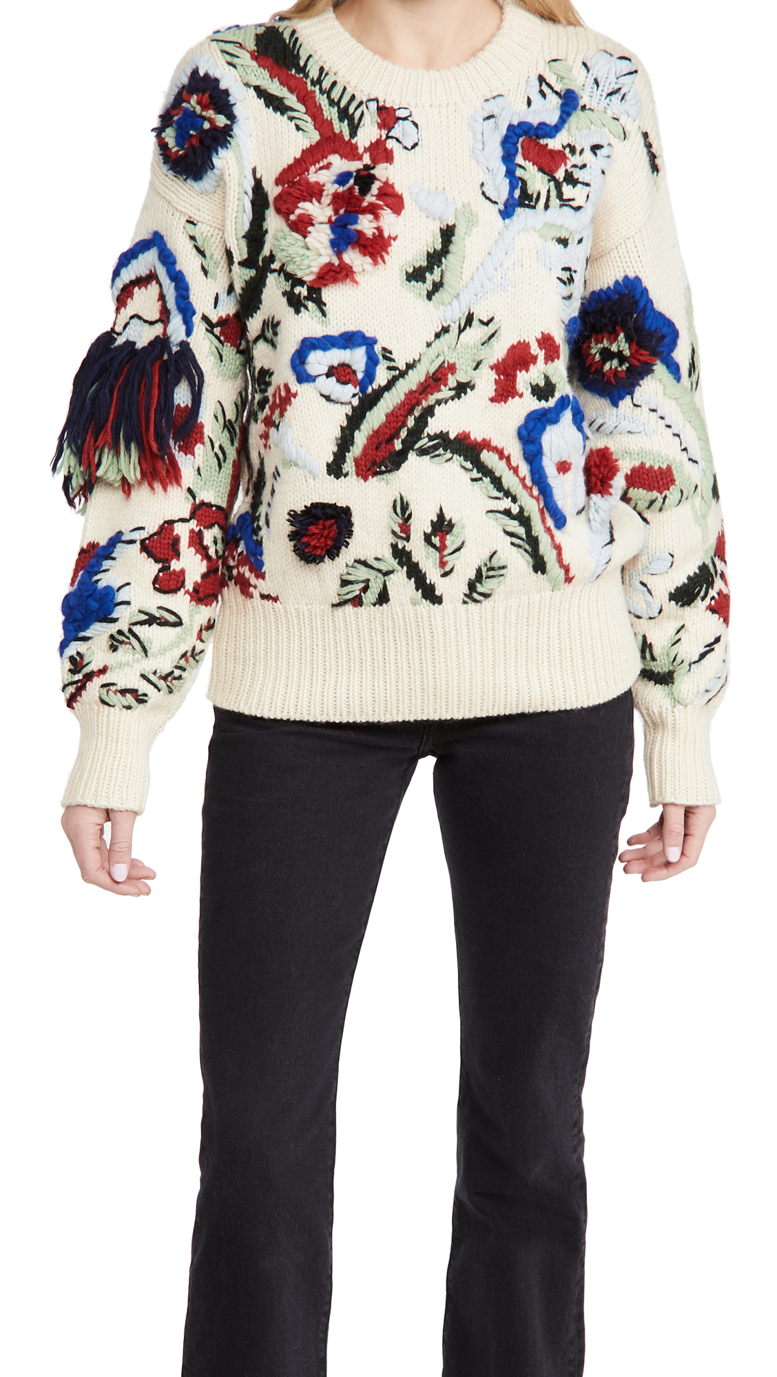 Tory Burch Hand Knit Intarsia Sweater