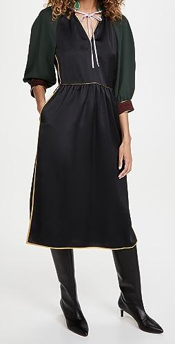 Tory Burch - Tie Neck Trapunto Dress