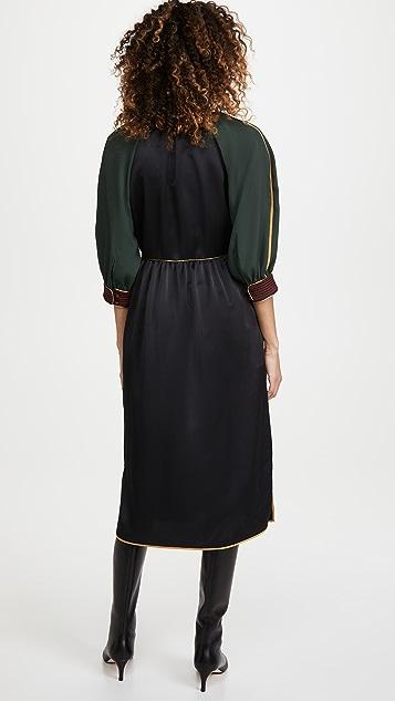 Tory Burch Tie Neck Trapunto Dress