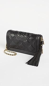 토리버치 Tory Burch Fleming Soft Wallet Crossbody Bag,Black