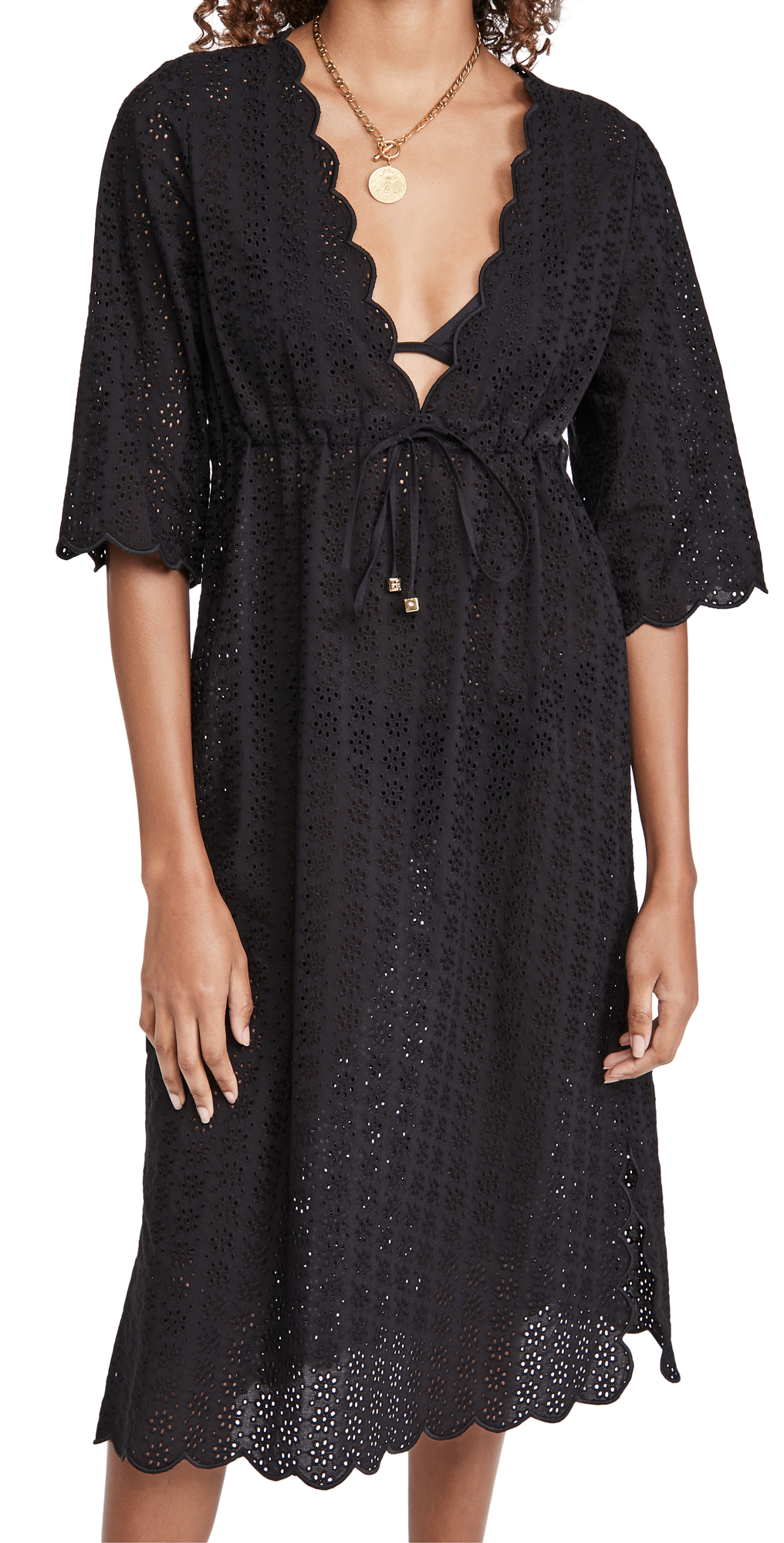 Tory Burch Broderie Midi Beach Tunic