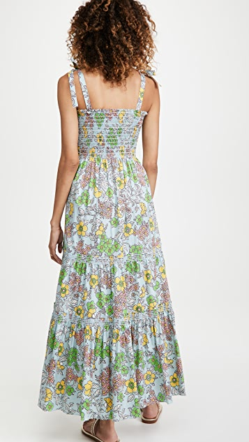 Tory Burch Printed Tie Shoulder Dress