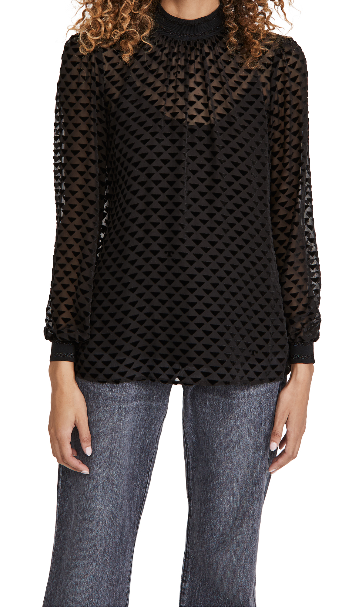 Tory Burch Velvet Devore Top