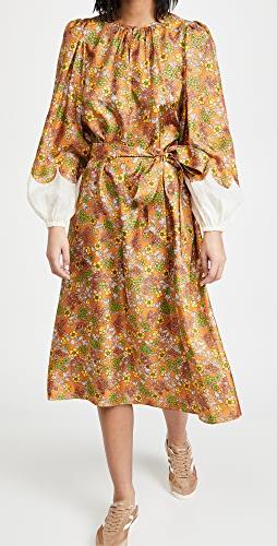 Tory Burch - Wallpaper Floral Silk Dress