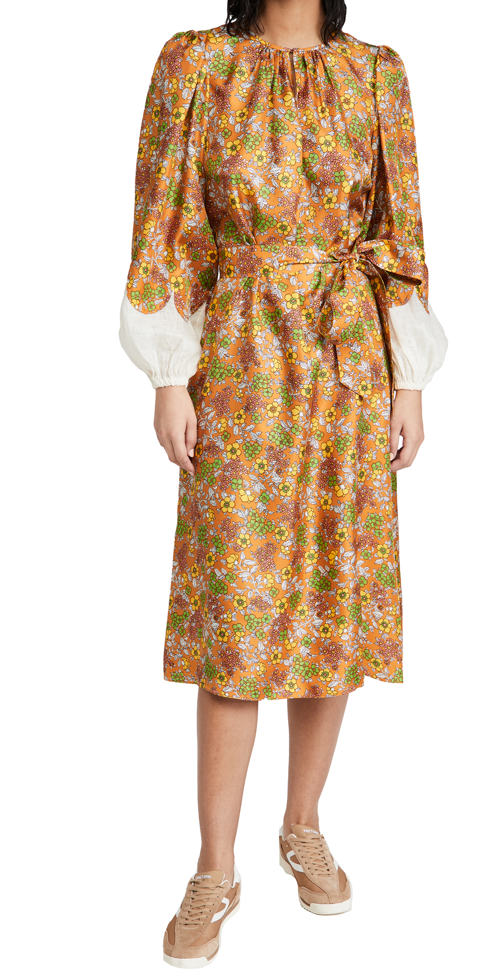 Tory Burch Wallpaper Floral Silk Dress