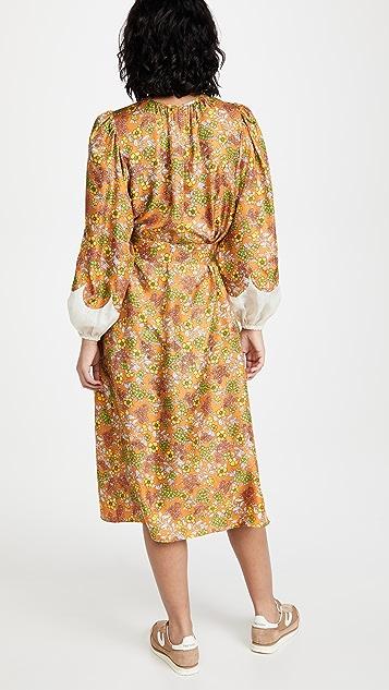 Tory Burch Wallpaper Floral Silk Dress