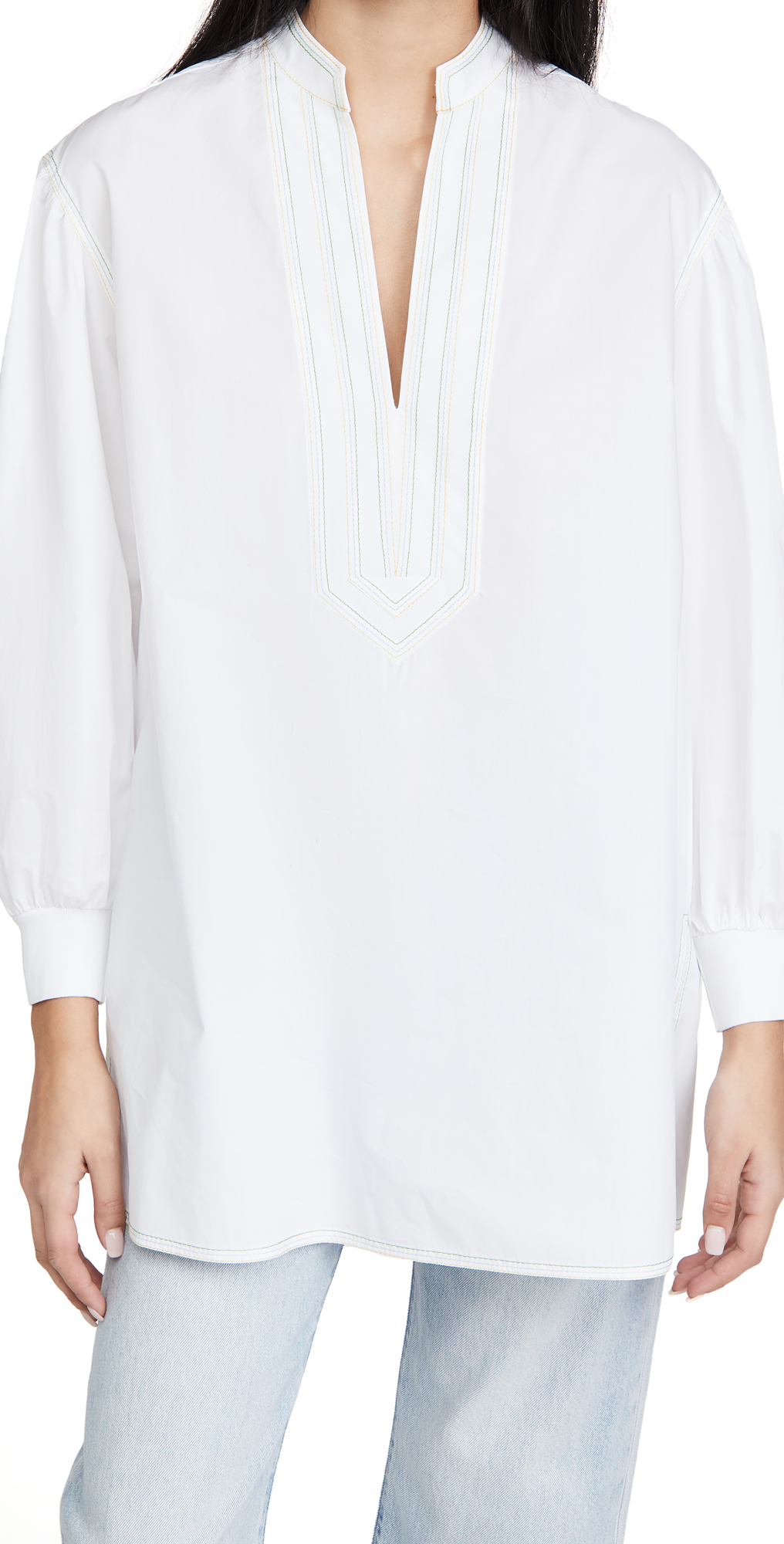 Tory Burch Puffed Sleeve Tunic Blouse