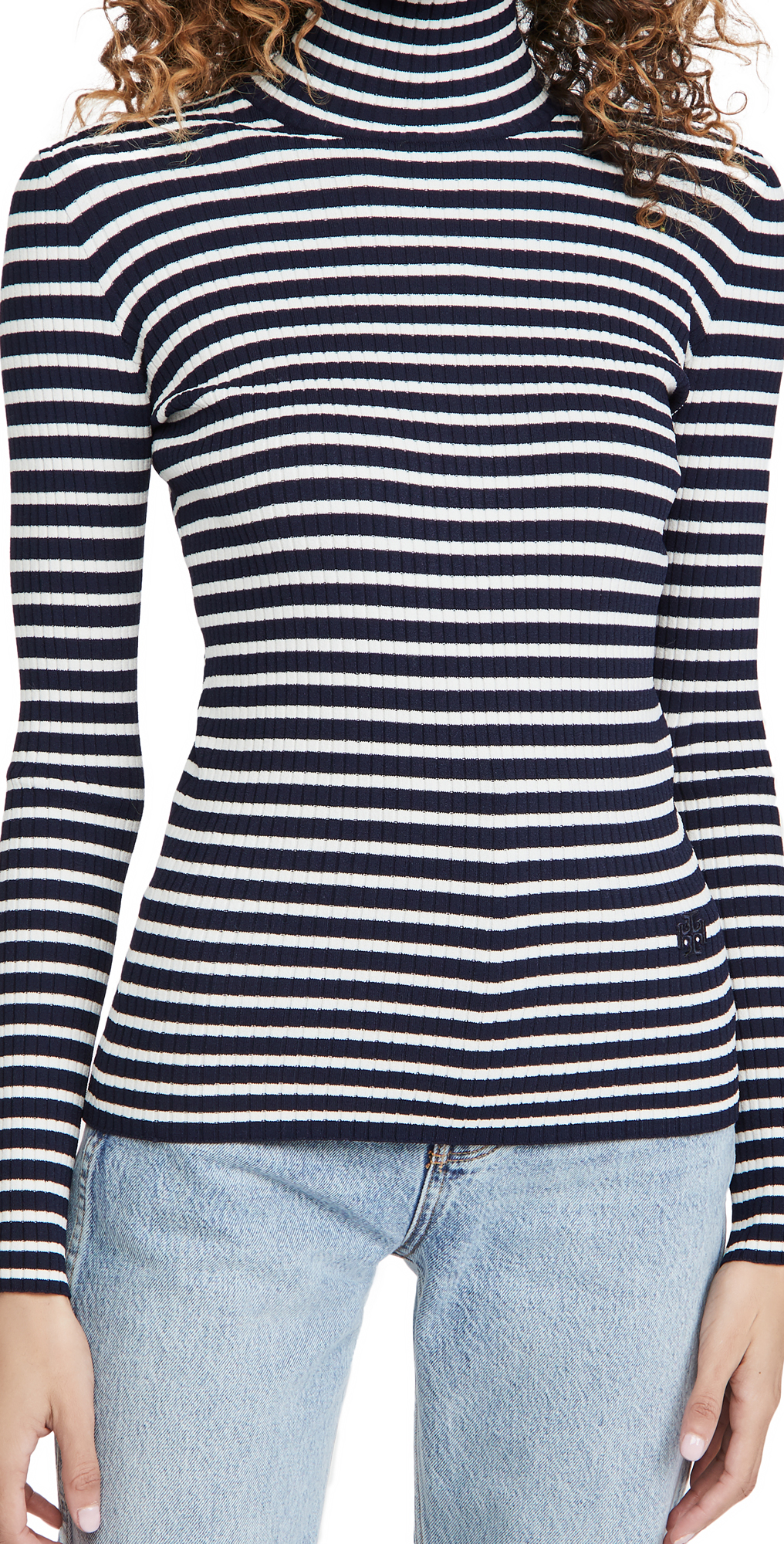 Tory Burch Rib Tech Knit Turtleneck