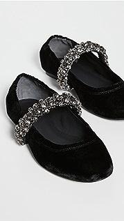 Tory Burch 水晶固定带芭蕾平底鞋