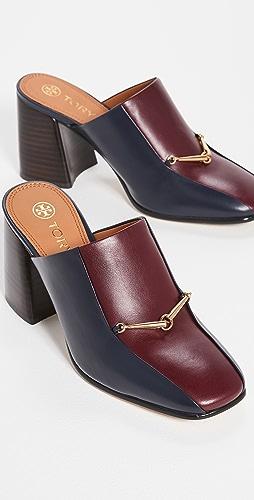 Tory Burch - Equestrian 链条 80mm 穆勒浅口鞋