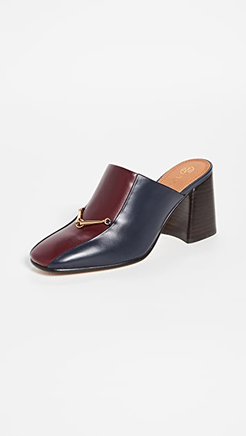 Tory Burch Equestrian 链条 80mm 穆勒浅口鞋
